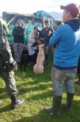 Ejército ecuatoriano incauta material mineralizado de Buenos Aires.