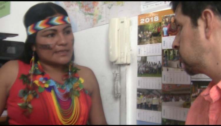 Vicepresidenta de la CONFENIAE Lourdes Jipa representa el pueblo ancestral Quijos