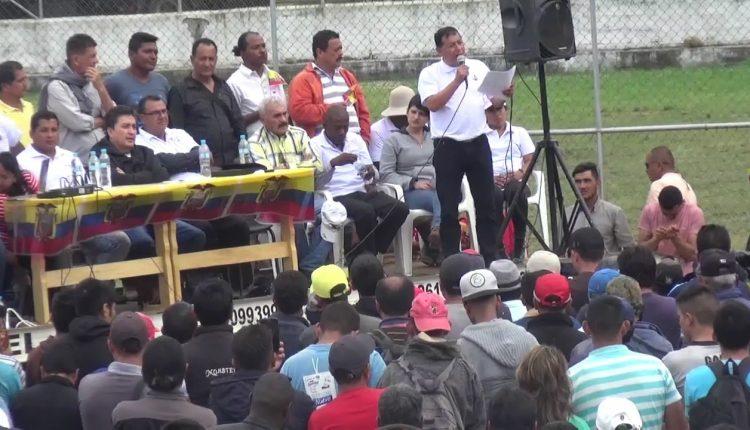 BOLETIN DE PRENSA ENVIADO POR ECUAMINEROS. Vicente Cayambe líder nacional de ECUAMINEROS, propone mediación.