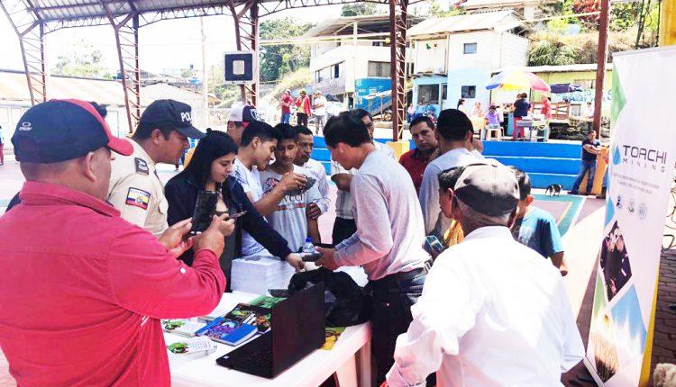 Toachiec S.A. participa en las actividades de aniversario de Palo Quemado