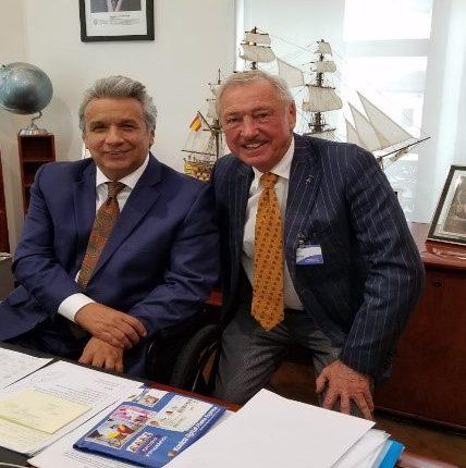 Reunión con el Presidente de la República de Ecuador y con el Vice Ministro de Minería