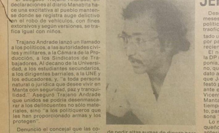 Agencia de Prensa Minera apoya a Trajano Andrade