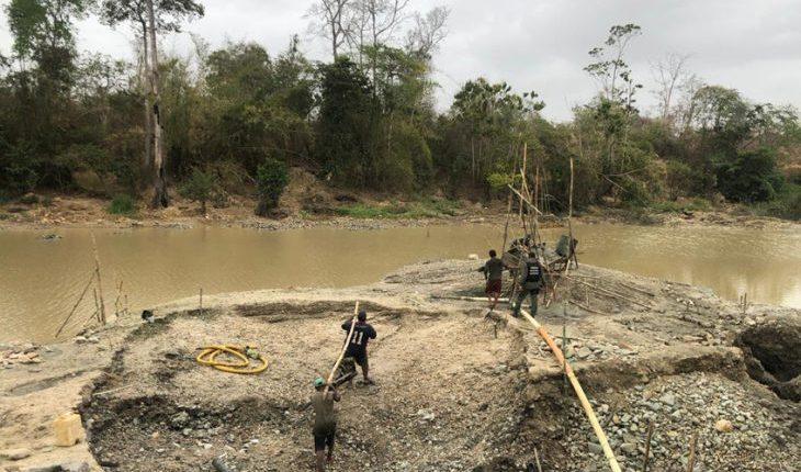 GNB recupera riberas del rio Yuruarí tomadas por minería ilegal
