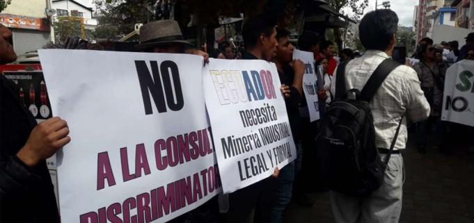Monte Olivo, parroquia del Carchi, blindada ante la amenaza de los mineros ilegales