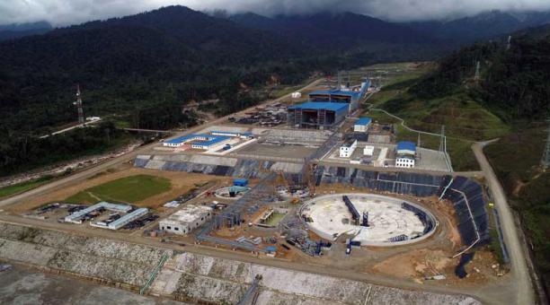 El material minero extraído del proyecto minero a gran escala, Mirador, será refinado en China